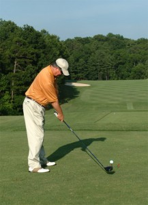 Stan Moore Driving Golf Ball
